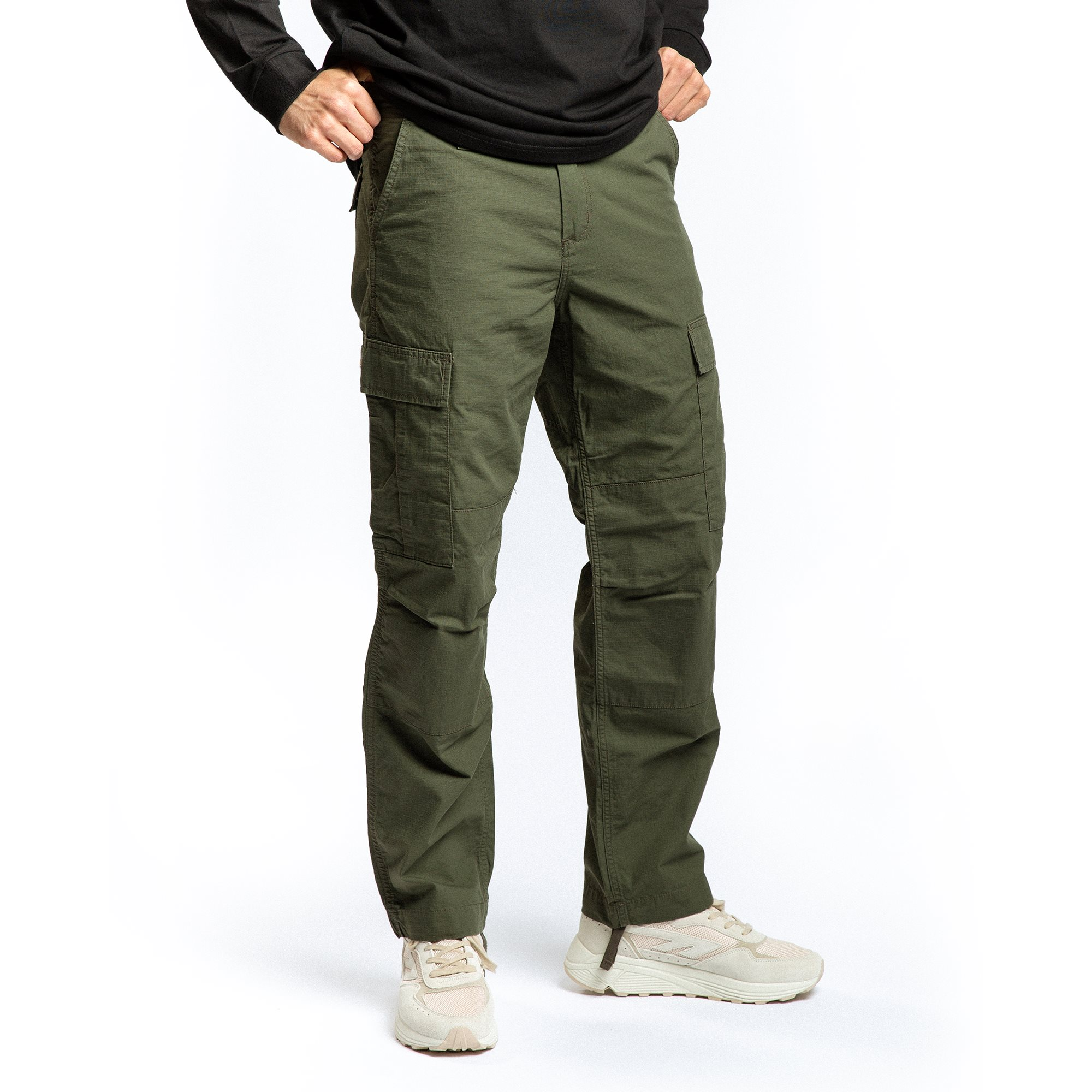 Byxor - Regular fit - Grön